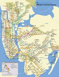New York Central Railroad Map by New York City Subway Map