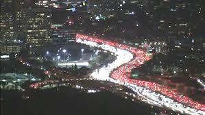 los angeles travelers stuck in thanksgiving traffic jam