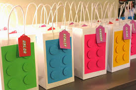 party favor bags schoolhouse ronk s girly lego party the party favors