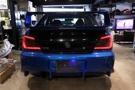 subaru wrx custom interior car shop glow custom led tail lights smoked ver 1 impreza wrx gda
