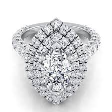 marquise diamond engagement rings marquise diamond double halo pave engagement ring 14k white gold