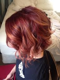 red balayage ombre joico 6rr inverted bob hair style ideas
