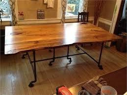live edge wood slab dining room table u2013 unique wood u0026 iron