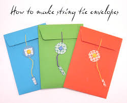 how to make envelopes craft tutorial how to make a string tie envelope the craft