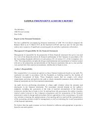 template for audit report sle independent auditors report