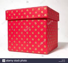 polka dot boxes and gold polka dot gift box present stock photo 22679810 alamy