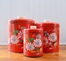 vintage metal kitchen canister sets 215 best vintage kitchen canisters images on vintage