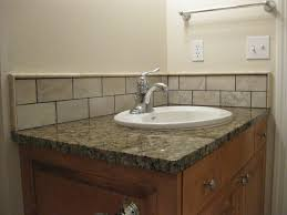 backsplash ideas for bathrooms bathroom sinks with backsplash crafts home