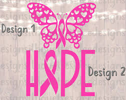 cancer butterfly svg etsy