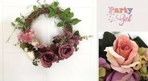 Wedding Flowers Background Purple Rose Artificial Flowers Door Lintel Flower Mirror Flower