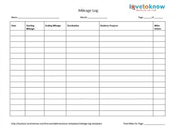 mileage report template mileage tracker form simple 425 328 log template thumb helendearest
