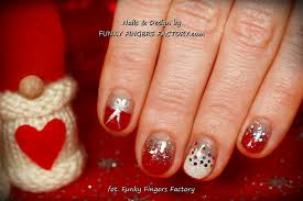 red glitter ombre gelish christmas nails funky fingers factory