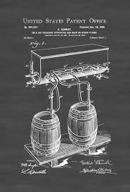 bar decor beer tap patent poster patent print wall decor bar decor beer
