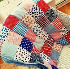 patchwork quilt personalised and boys by the fairground