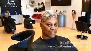gray hair pixie cut haircut short hair youtube