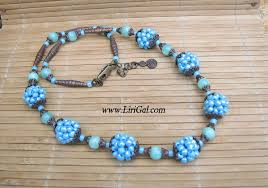 ball bead necklace images How to make beaded ball or bead tutorial jpeg