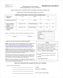 divorce certificate template 7 free word pdf document
