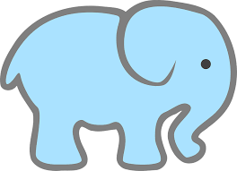 baby blue free vector graphic elephant baby blue free image on pixabay