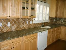 Kitchen Backsplash Stone Delighful Tumbled Stone Kitchen Backsplash Tile Natural Intended Decor