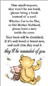baby shower book instead of card poem winnie the pooh baby shower book request party favors cards ebay