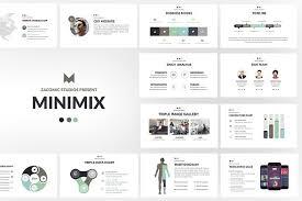 Minimix Powerpoint Template Presentation Templates Creative Market Ppt Tempelate