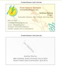 Bp Business Card From Seed To Stomach Business Cards And Nutrition