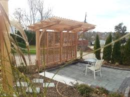 we designed this cantilevered pergola with the assistance of the