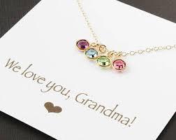 grandmother necklaces grandkids necklace etsy