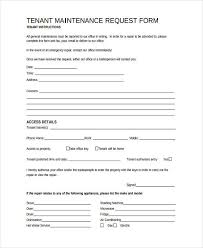 Maintenance Request Form Template by 10 Maintenance Request Form Sle Free Sle Exle Format