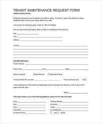 maintenance request form template 10 maintenance request form sle free sle exle format