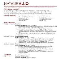 Resume English Secretary Admin Assistant Cv Example For Admin Livecareer