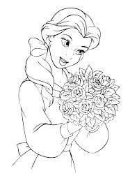 belle disney coloring pages awesome coloring belle disney coloring