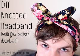 knotted headband diy knotted headband tutorial free pattern poppy alla