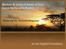 Christian Halloween Poem Gwen Harwood Poetry Mastering The Personal Response By Into
