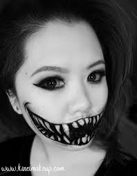 create this easy halloween monster teeth makeup using just face