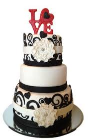 red and black bustier bridal shower cake cake let them eat cake