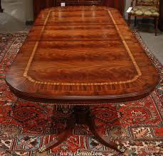 Mahogany Dining Room Tables Custom Flamed Inlaid Mahogany Dining Table Beaded Skirt For Sale