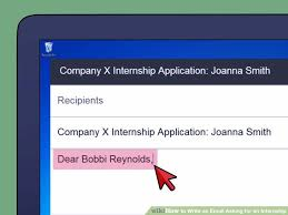 how to write an email asking for an internship when and how