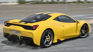 ferrari yellow 458 ferrari 458 speciale tested autoevolution
