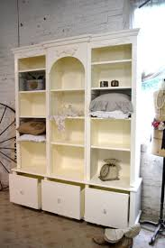 painted cottage chic shabby white handmade bookcase display ca