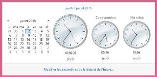 afficher l horloge sur le bureau windows 7 widget horloge ou comment connaître l heure de plusieurs pays en