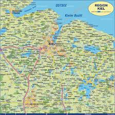 Germany Physical Map by Kiel Map