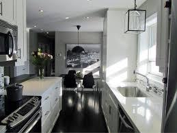 galley kitchen black granite countertop lavish home design