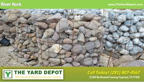 landscape rock the yard depot in cypress wholesale landscape