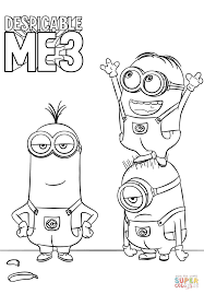 despicable me 3 minions coloring page free printable coloring pages