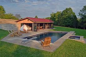 pool home outdoor and patio custom pool house designs with white tile floor