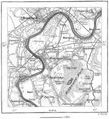 london kew u0026 richmond sketch map c1885 old antique vintage plan chart
