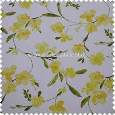 British Upholstery Fabric Rosemary Flower Pattern Yellow Colour Print Cotton Fabric Curtains
