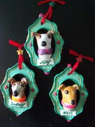 custom greyhound clay ornament holy ornaments