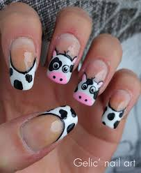 cowgirl nail designs cow funky french nail art for horse nail